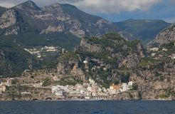 Summer view of Atrani in Campania royalty free stock photos