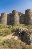 View of the beautiful medieval fortress Amberd in Armenia. Summer view of the beautiful medieval fortress Amberd in Armenia Stock Photography