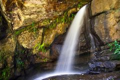Summer view of a beautiful small waterfall Stock Photo