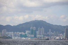 Summer View of Belcher Bay, hong kong Royalty Free Stock Image