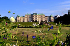 Summer view of Belvedere palace Stock Image