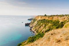 Summer view of Black sea coast near Fiolent cape Stock Photo