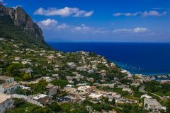 Summer view of Capri island in Campania, Italy royalty free stock images