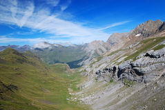 Summer view of the central Pyrenees. Stock Image