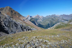 Summer view of the central Pyrenees. Stock Photos