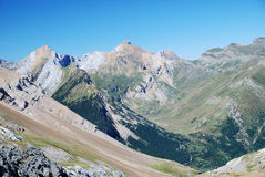 Summer view of the central Pyrenees. Royalty Free Stock Photography