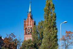 Church of the Holy Family, Kaliningrad. Summer view of Church of the Holy Family stock photo