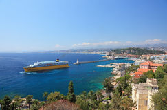 Summer view of the city of Nice. Stock Image