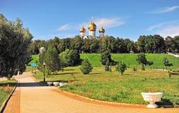Summer view of city park of Yaroslavl Stock Photo