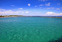 Summer view of Croatian turquoise waters Royalty Free Stock Images