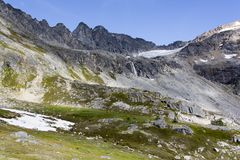 Alaska`s Devil`s Punchbowl Landscape Royalty Free Stock Image