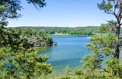 Summer view for Dynekilen sea bay Stock Images