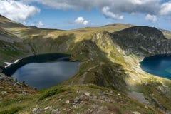 Summer view of The Eye and The Kidney Lakes, Rila Mountain, The Seven Rila Lakes, Bulgaria stock photos