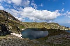 Summer view of The Eye Lake, Rila Mountain, The Seven Rila Lakes, Bulgaria royalty free stock image