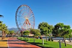 Summer view of a Ferris wheel in Batumi Stock Photos