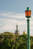 Summer view the Field Mars and Church of the Savior on Spilled Blood stock images