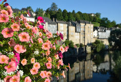 Summer view of the French town Oloron-Sainte-Maria Royalty Free Stock Images