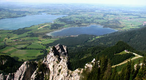Summer View of the German Alps. Near the Austrian border and Neuschwanstein Castle Royalty Free Stock Image