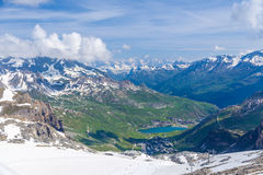 Summer view of the Grand Motte glacier Royalty Free Stock Image
