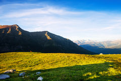 Summer view of highland in Pyrenees Stock Photos