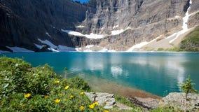 Summer View of Iceberg Lake, Montana Stock Photos