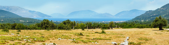 Summer view of the Ithaca island (Greece). Stock Photography