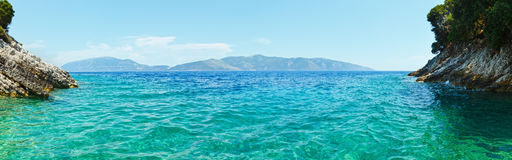 Summer view of Ithaka island (Greece) Royalty Free Stock Photo