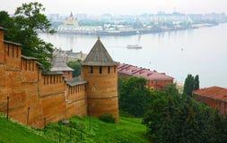 Summer view of Kremlin Nizhny Novgorod Stock Photo