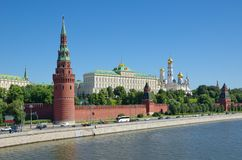 Moscow Kremlin and Moskva-river on a Sunny summer day, Russia Stock Image