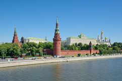 Moscow Kremlin on a Sunny summer day, Russia Stock Images