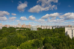 Summer view in Moscow Stock Image