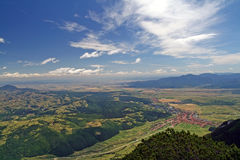 Summer view from mountains Stock Image
