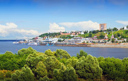Summer view of Nizhny Novgorod Royalty Free Stock Photography