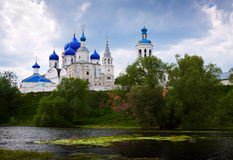 Summer view of nunnery. Bogolyubovo Royalty Free Stock Photography
