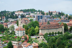 Summer View Of Fribourg. Royalty Free Stock Photography