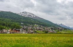 Free Summer View Of Livigno, An Italian Town In The Province Of Sondrio In Lombardy And Renowned Winter Royalty Free Stock Photos - 157006598
