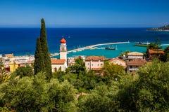 Summer View Of Zakynthos Zante Town. Beautiful Cityscape Panorama Of Greece City Royalty Free Stock Photo