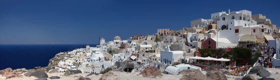 Summer view of oia. santorini. greece. Royalty Free Stock Image