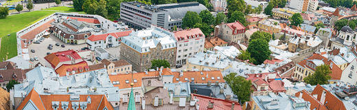 Summer view of old city. Royalty Free Stock Photo
