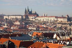 Summer view of Old Town in Prague, Czech Republic Royalty Free Stock Photo