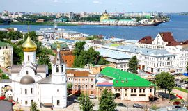 Summer view oldest part Nizhny Novgorod Royalty Free Stock Photos