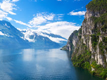 Summer view over of lake Garda, Italy. Summer view over of lake Garda in Italy, Europe royalty free stock images