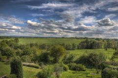 Summer View over a Valley by Aachen Germany stock photography
