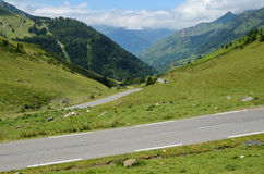 Summer view from the pass of Tourmalet in Pyrenees Royalty Free Stock Photos