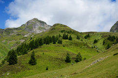 Summer view from the pass of Tourmalet in Pyrenees Stock Image