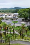 Summer view of Pau. The railway station and the Park Beaumont are photographed from above in summer Pau Stock Photos