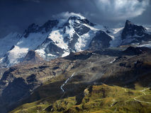 Summer view from Pennine Alps, Switzerland. Stock Photo