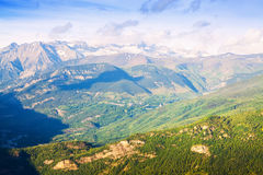 Summer view of Pyrenees mountains Royalty Free Stock Photo