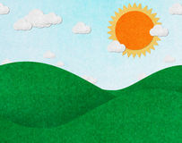 Summer view recycled paper Royalty Free Stock Images