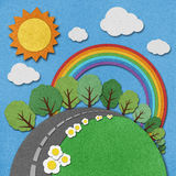 Summer view recycled paper background. Royalty Free Stock Photos